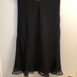 EUC Express Black 100% Silk Midi Skirt size S